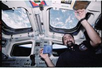 Umberto Guidoni at the ISS