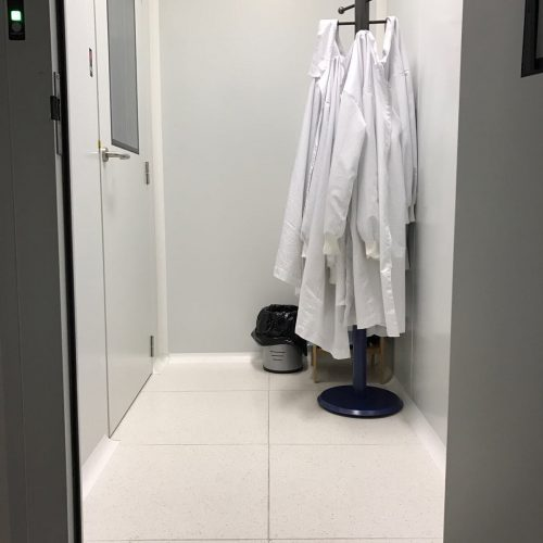 Entrance to E-USOC Clean Room